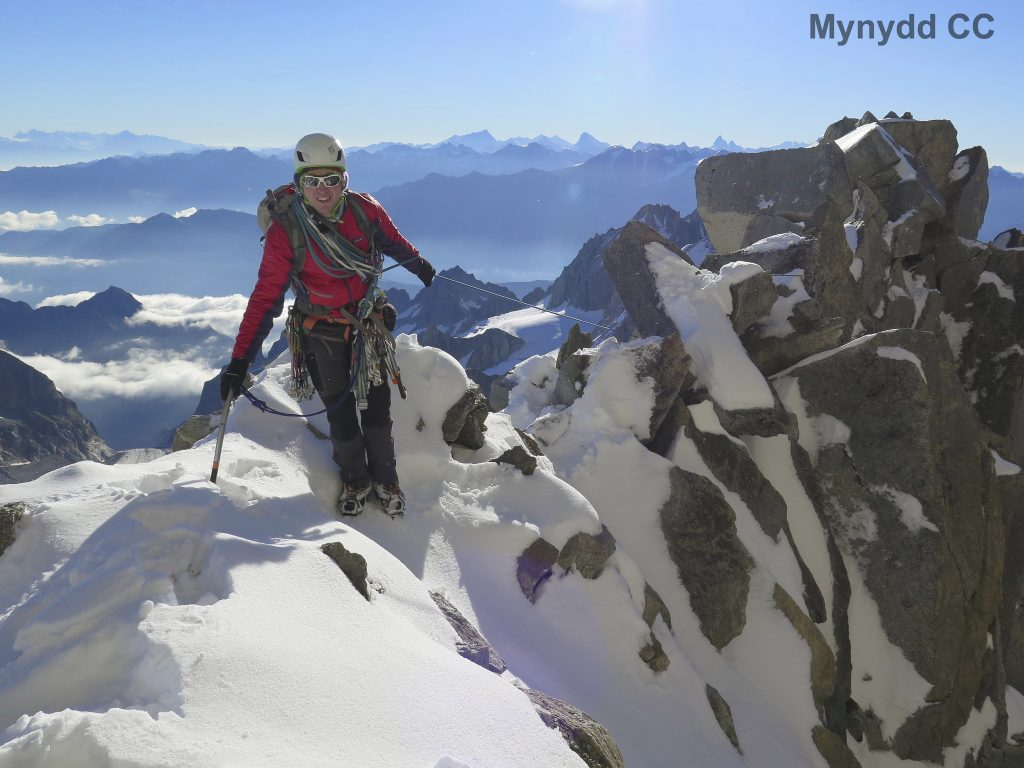 James on Fleche Rousse Ridge, Alps