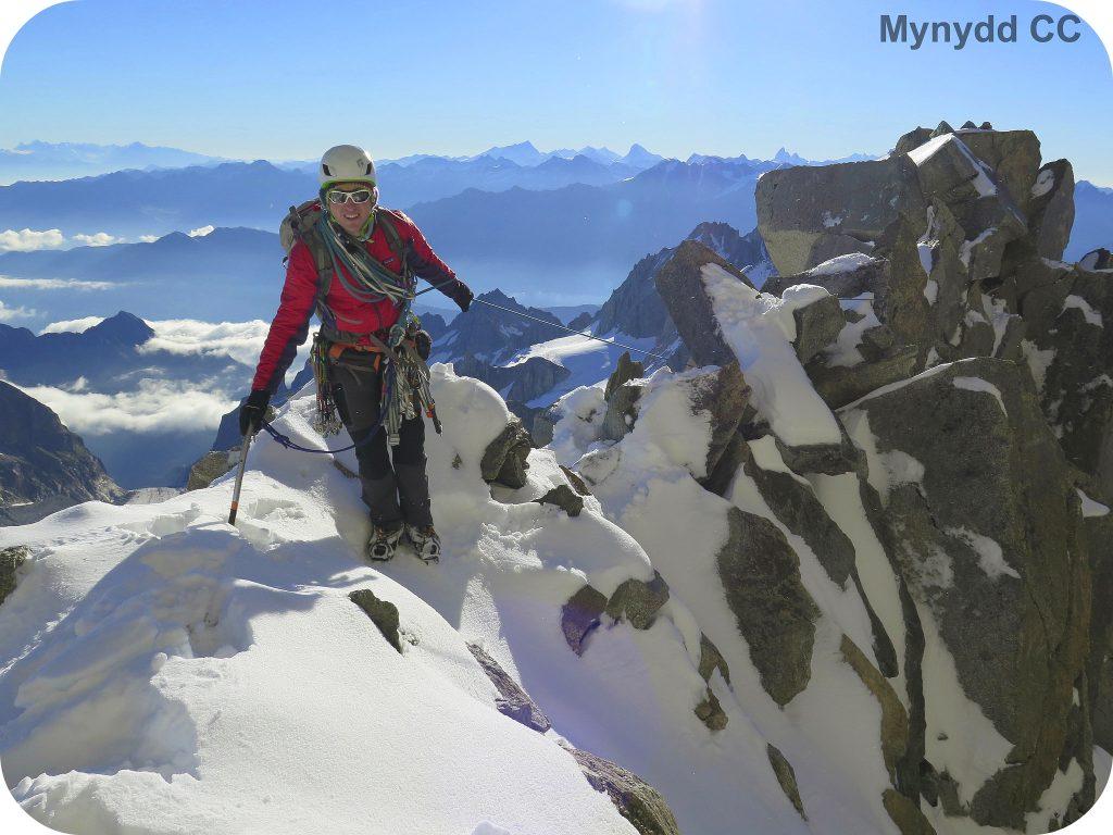 James on Fleche Rousse Ridge, Alps