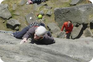 Climber at Stanage