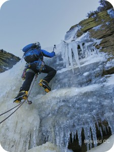 Ice climbing up Wildboarclough