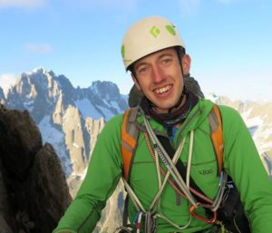 Picture of Meets Secretary David smiling whilst mountaineering in Chamonix, French Alps