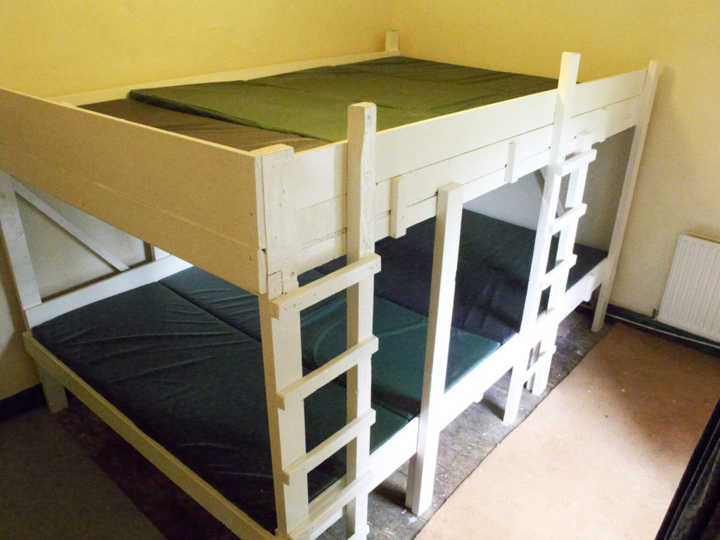 View of the alpine bunk set-up in one of the bedrooms